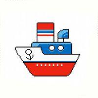 """Вышивка крестом """"Кораблик"""""""
