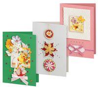 """Набор для изготовления открыток """"Вальс цветов"""" (3 шт.)"""