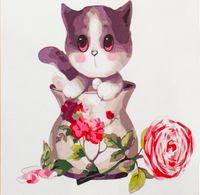 """Картина по номерам """"Котенок в вазе"""" (250x250 мм; арт. MB057)"""