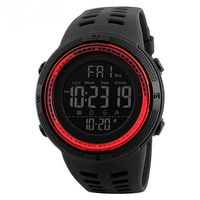 Часы наручные (чёрно-красные; арт. SKMEI 1251-3)