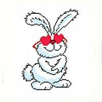 """Вышивка крестом """"Влюбленный заяц"""""""