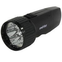 Аккумуляторный светодиодный фонарь 5 LED с прямой зарядкой Smartbuy (черный)