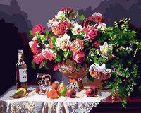 "Картина по номерам ""Натюрморт с вином"" (400х500 мм)"