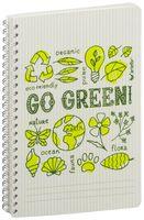 """Тетрадь в клетку """"Go Green"""" (72 листа; серая)"""