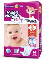 "Подгузники ""Helen Harper Baby Midi"" (4-9 кг, 14 шт)"