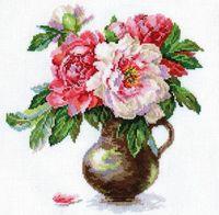 """Вышивка крестом """"Цветущий сад. Пионы"""" (250х260 мм)"""