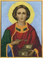 """Вышивка крестом """"Великомученик Пантелеймон Целитель"""""""