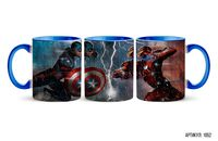 "Кружка ""Captain America: Civil War"" (голубая; арт. 0522)"