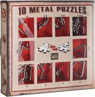 Набор из 10 металлических головоломок (красный)