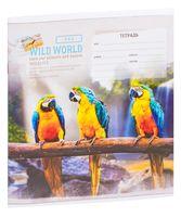 """Тетрадь в клетку """"Wild World"""" (18 листов)"""