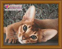 """Алмазная вышивка-мозаика """"Абиссинская кошка"""""""