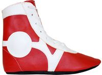 Обувь для самбо SM-0102 (р.37; кожа; красная)