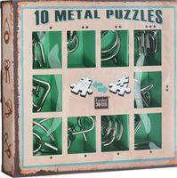 Набор из 10 металлических головоломок (зеленый)