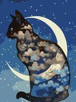 """Картина по номерам """"Лунный кот"""" (300х400 мм)"""