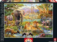 """Пазл """"Водопой в Африке"""" (1500 элементов)"""
