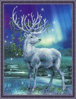 """Вышивка крестом """"Белый олень"""""""