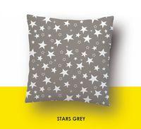 """Наволочка хлопковая """"Stars Grey"""" (50x70 см)"""