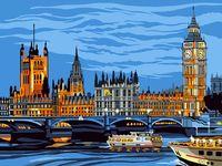 "Картина по номерам ""Лондон"" (300х400 мм)"