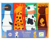 """Кубики """"Животные"""" (12 шт.)"""