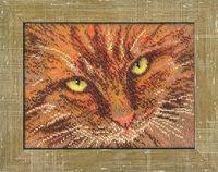 "Вышивка бисером ""Рыжий кот"" (204х153 мм)"