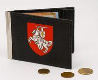 """Зажим для денег с монетницей """"Пагоня"""" (черный, арт. MZ020)"""