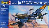 "Сборная модель ""Бомбардировщик Junkers Ju87 G/D Tank Buster"" (масштаб: 1/72)"