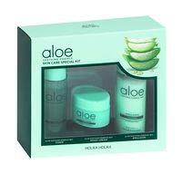 """Подарочный набор """"Aloe Soothing Essence Skincare Special Kit"""" (тоник для лица, эмульсия для лица, крем для лица)"""