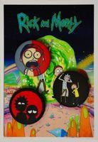 """Набор значков маленьких """"Рик и Морти"""" (арт. 758)"""