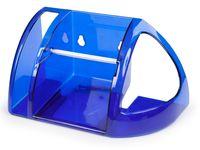 Держатель для туалетной бумаги (синий полупрозрачный)