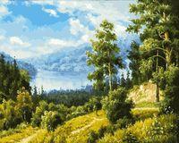 "Картина по номерам на холсте ""Лесной пейзаж"" (400х500 мм)"