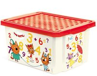 """Ящик для хранения игрушек """"Три кота. Обучайка"""" (арт. LA1425)"""