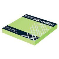 Бумага для заметок (зеленая неоновая; 76х75 мм)
