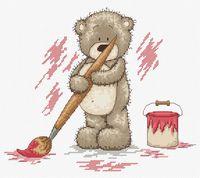 """Вышивка крестом """"Медвежонок Бруно"""" (220х190 мм)"""
