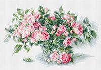 """Вышивка крестом """"Букет чайных роз"""" (310х200 мм)"""