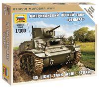 """Сборная модель """"Американский легкий танк """"Стюарт"""" (масштаб: 1/100)"""