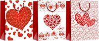 """Пакет бумажный подарочный """"Сердце"""" (в ассортименте; 18х21х8,5 см; арт. WED16-UN3-PB-1821-MATF)"""