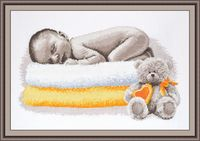 "Вышивка крестом ""Сон младенца"" (400х220 мм)"