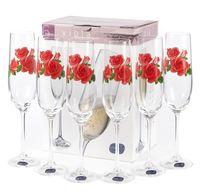 """Бокал для шампанского стеклянный """"Viola"""" (6 шт.; 190 мл; арт. 40729/OA973/190)"""