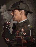 """Картина по номерам """"Шерлок"""" (400х500 мм)"""