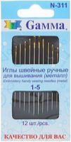 Иглы для вышивания №1-5 (12 шт.)