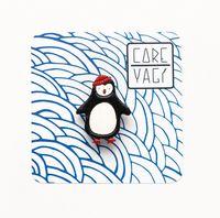 """Значок деревянный """"Пингвин в шапке"""""""