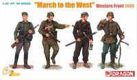 "Набор миниатюр ""Немецкая пехота. Марш на восток"" (масштаб: 1/35)"