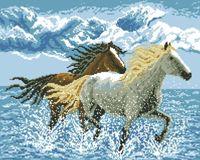 "Алмазная вышивка-мозаика ""Лошади"" (400х500 мм)"