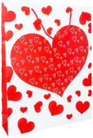 """Пакет бумажный подарочный """"Сердечки"""" (в ассортименте; 33х43х10 см; арт. WED16-UN3-PB-3343-MATF)"""