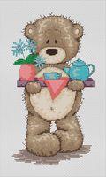 """Вышивка крестом """"Медвежонок Бруно"""" (105х195 мм)"""