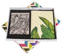 """Подарочный набор """"Листья"""" (обложка на паспорт и зажим для денег)"""