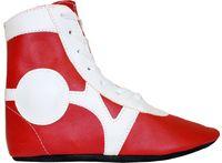 Обувь для самбо SM-0102 (р.44; кожа; красная)