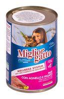 """Консервы для кошек """"Gatto"""" (400 г; ягнёнок и печень)"""