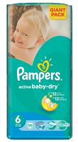 "Подгузники ""Pampers Active Baby-Dry Extra Large"" (15+ кг, 56 шт)"
