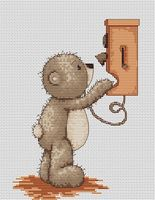 """Вышивка крестом """"Медвежонок Бруно"""" (130х180 мм; арт. B1010)"""